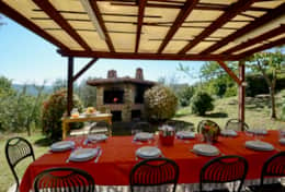 Villa Panicale private terrace