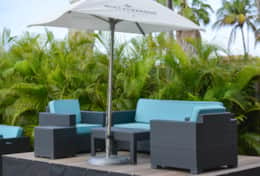 lounge area with parasol