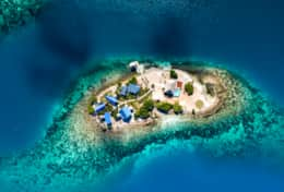 Aerial view of Kanu Private Island