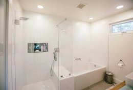 Full Bathroom with separate shower and bathtub