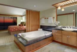1BR bedroom and bathroom