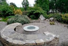 and the stone fire pit
