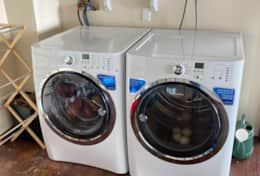 Washer and dryer in garage