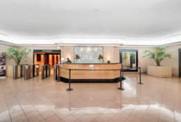 The Grand Front Desk Located In Lobby