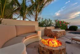 FIRE PIT. Beachfront Private Villa Vacation Rentals Los Cabos