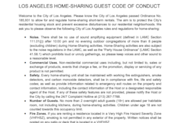 Los Angeles Home-Sharing Guest Code of Conduct