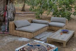 Apoikia - outdoor area furnished with sofas - Specchia - Salento
