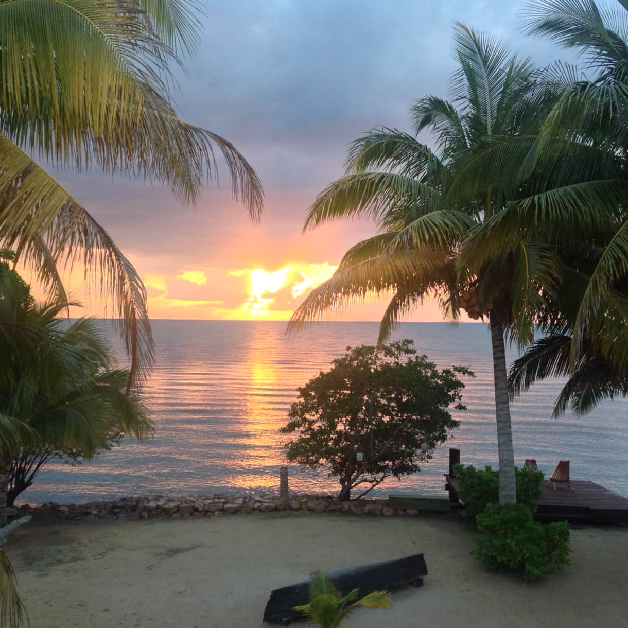 sunrise on the beach Belize