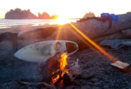La Push Surfboard & Fire
