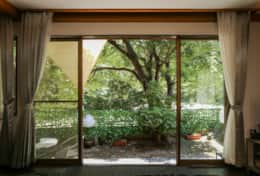 View into the garden| Gotanda House| Tokyo Family Stays |Spacious | Family Friendly