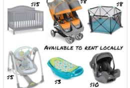 Inquire about renting car seats, booster seats, sound machines, baby monitors, toys, and more.