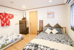 Downstairs Bedroom | Fuji House| best family stays in Tokyo | Tokyo Family Stays|