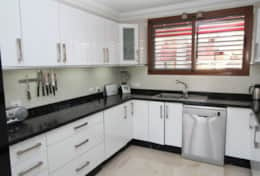 The kitchen has all you need including over, microwave, blenders, waffle machine, dishwasher, coffee