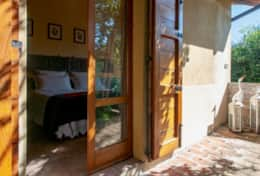 La Casella, bedroom with direct access to the private terrace