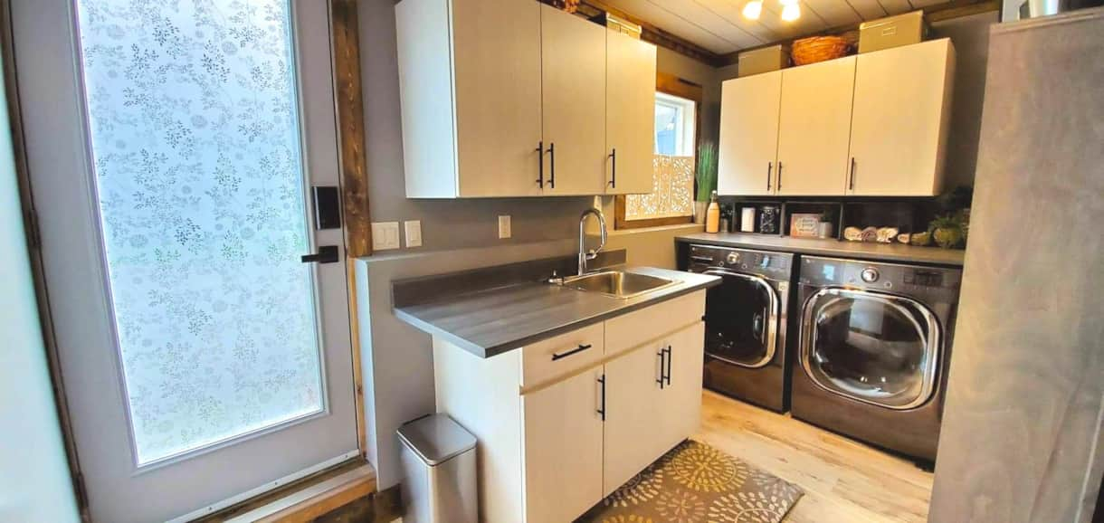 Backyard access from your private Kitchen & Laundry