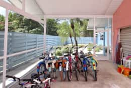 Bikes for guests to ride to beach