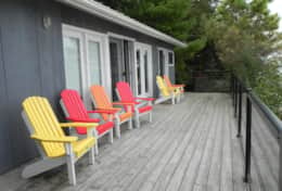 6 Muskoka Chairs relax and soak up the sun and listen to those waves