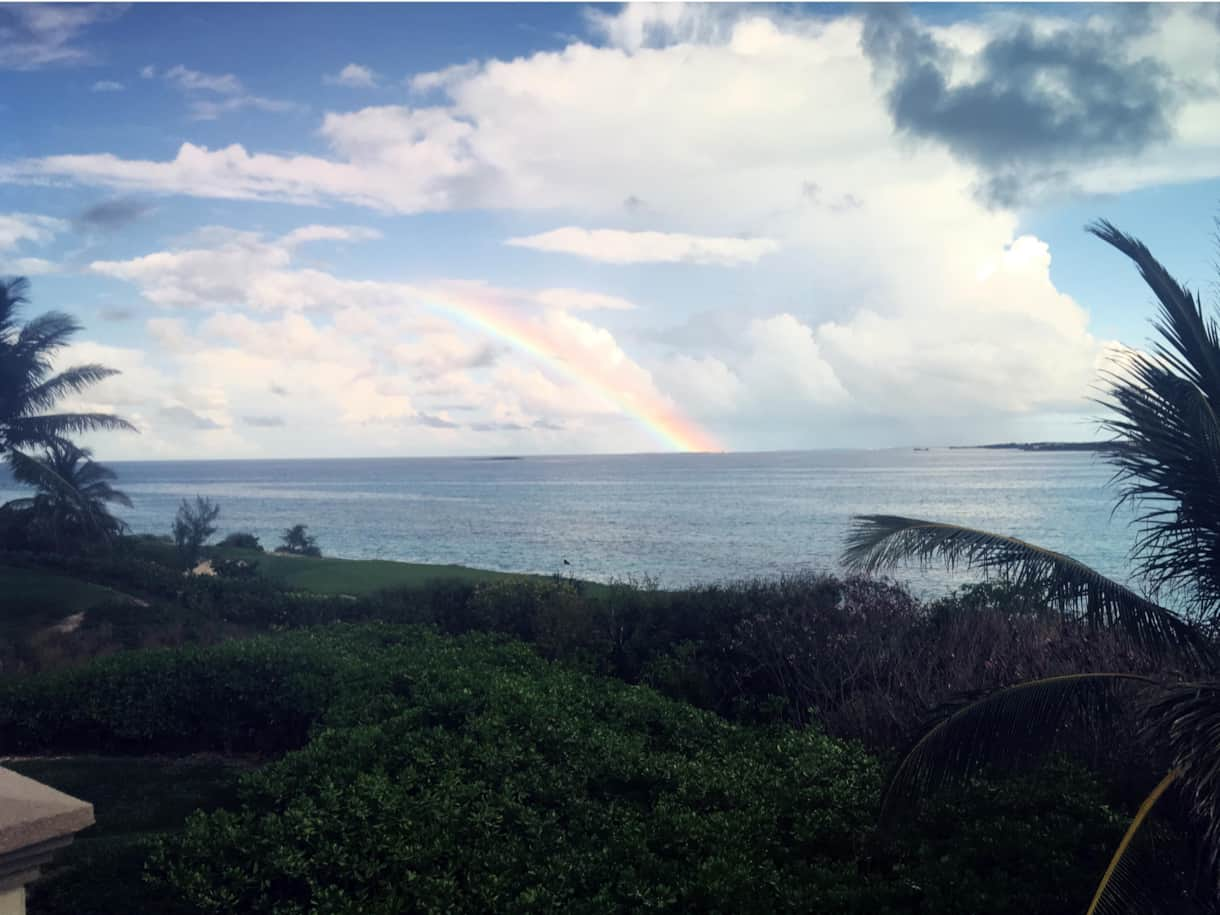 Rainbow Over Emerald Bay – Exuma
