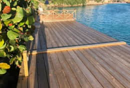 deck to jump into the water