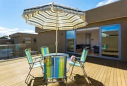 The Sandcastle - Back Sun Deck - Good House Holiday Rentals