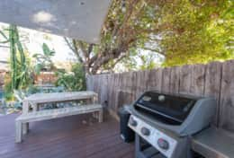 Outdoor dining table and BBQ