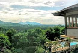Villa Nandini's view overlooking the Barat National Park