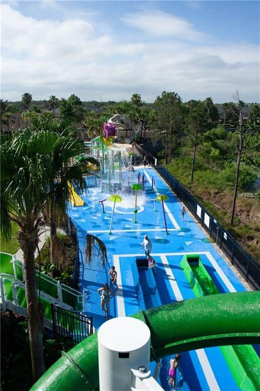 View from top of waterslides