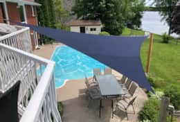 Pool with shade sail