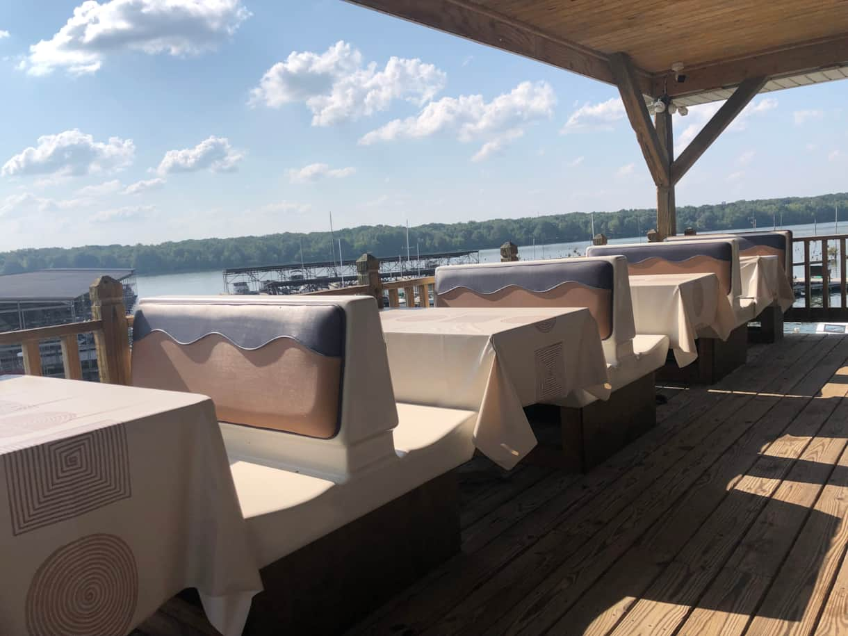 Guy's Place On Water Dining Patio Seating