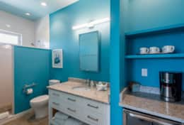 Harbor Master Suite Bathroom and coffee/wine bar