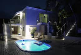 Exterior lighting for night swimming!