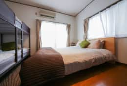 Bedroom 1 layout Tokyo Family Stays | Yoyo house| Family friendly accommodation |