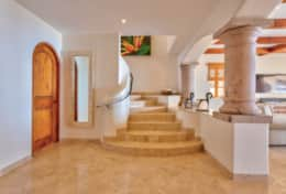 STAIRS and HALL. Beachfront Private Villa Vacation Rentals Los Cabos