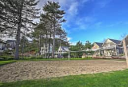 Enjoy summer delights of a sand volleyball court and community fire pit area.