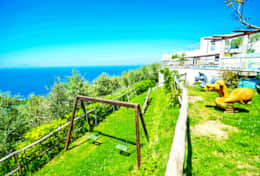 private-garden-with-playground-for-children-luxury-villa-with-sea-view-amalfi-coast-italia