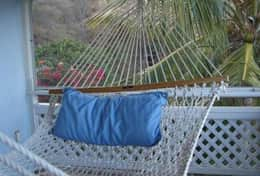 Relax in the hammock on the upper level porch!