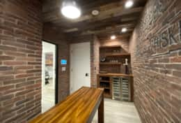 The cellar and wine refrigerator