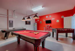Pool, foosball, air hockey and darts