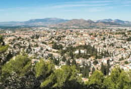 Vibrant city center of Granada. Spend an afternoon to shop, dine and enjoy the Spanish city life.
