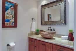 HALF BATHROOM. Beachfront Private Villa Vacation Rentals Los Cabos