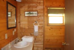 the cabins bathroom