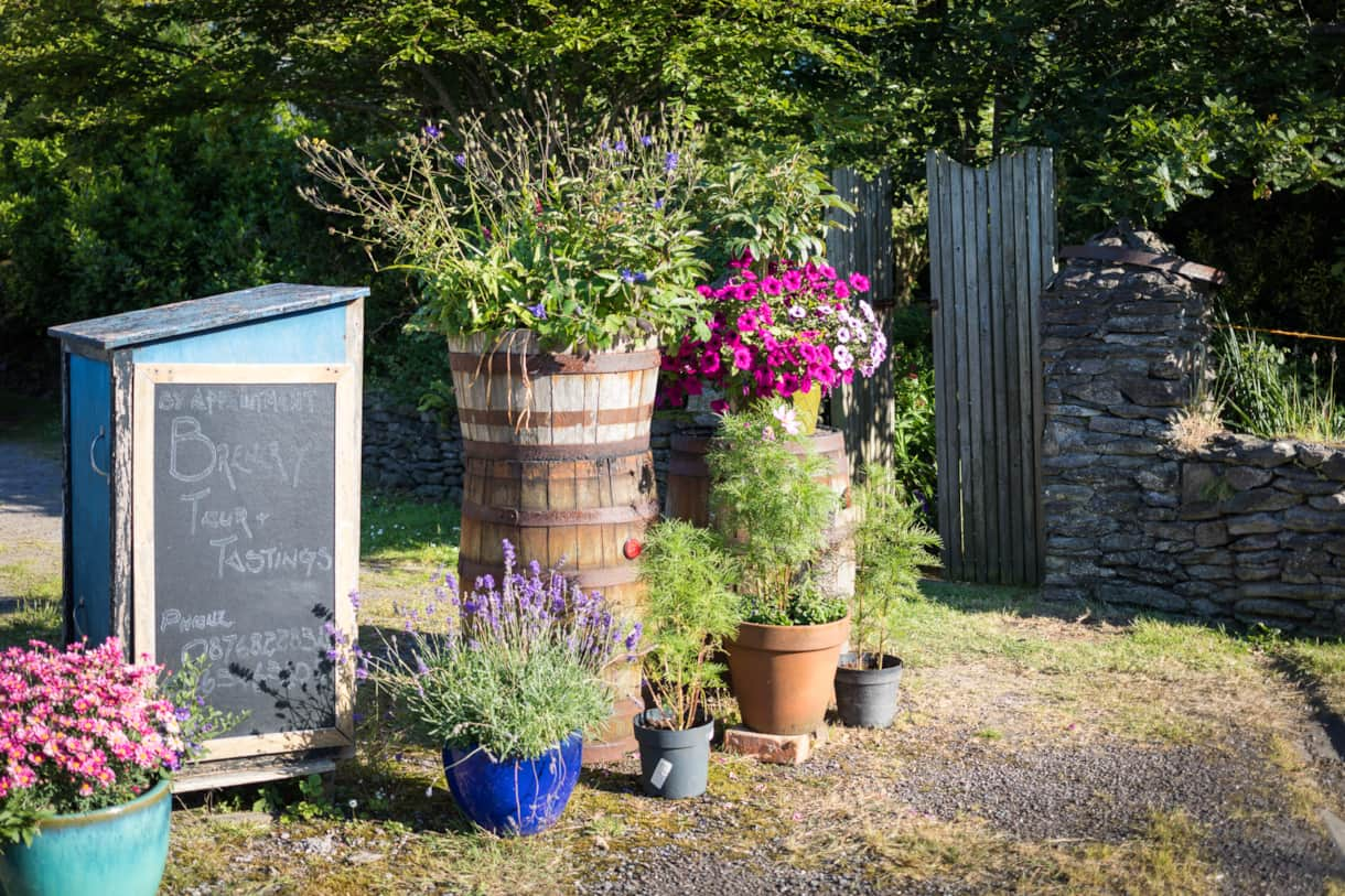 Entrance to the brewery garden