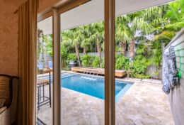 Master Bedroom View To Pool Area