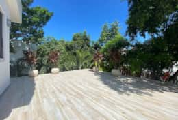 Large tree top terrace completed August 2020 as a bonus space for exercise, group yoga etc
