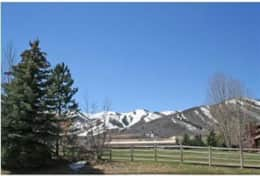 view in winter of park city mountsins