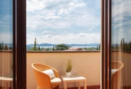 Casa Lago Trasimeno, balcony with views over the lake