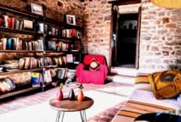San Savino living room and library