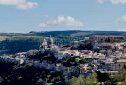 Ragusa Ibla Panorama ,Aerial View of Vista-Iblea's Terraces