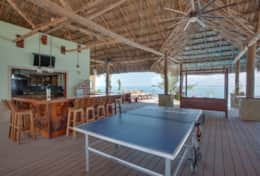 Bar area and Ping pong table