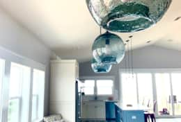 Dining room pendants can be dimmed